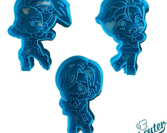 Yuri on Ice characters cookie cutters pack