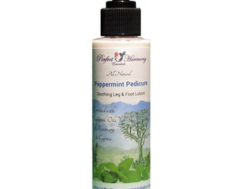 Peppermint Pedicure, Soothing Leg and Foot Lotion