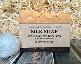 Silk soap Essential oils soap Women soap Incense Vegan soap Hot process soap Pink clay Dry skin soap Glycerin soap Handmade soap Rustic soap