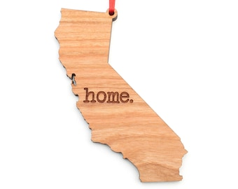 California home. Christmas Ornament - CA California State Ornament - Home Christmas Ornament