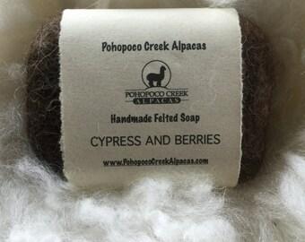 Handmade Alpaca felted soap