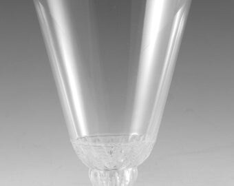 "LALIQUE Crystal - CHAMPIGNY Design - Wine Glass / Glasses - 3 3/4"" / 9.5cm (a)"