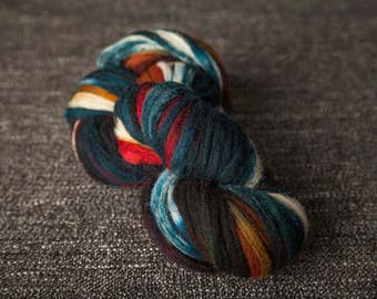 100 yards handpainted buffalo wool for knitting