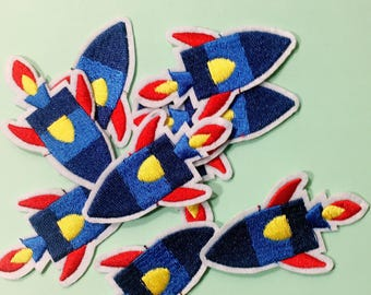Space/space rocket/free shipping iron on patch /embroidery appliqués/Ae