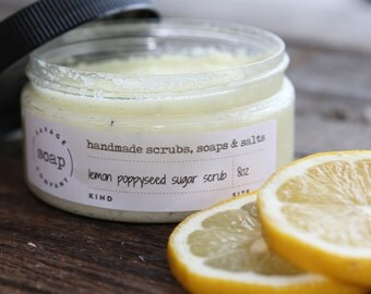 Lemon Poppy Seed Sugar Scrub