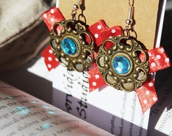 Steampunk Bow Earrings