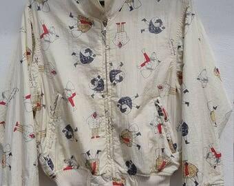 Vintage  Reversible Jacket Lopo Di Mare Sina Cova cream Colour