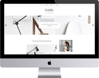 Goldy - Minimal Blogger Template Responsive Design Custom Blogger Design Responsive Blogger template Blogger theme blogspot template