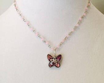 Children's Swarovski Butterfly Necklace