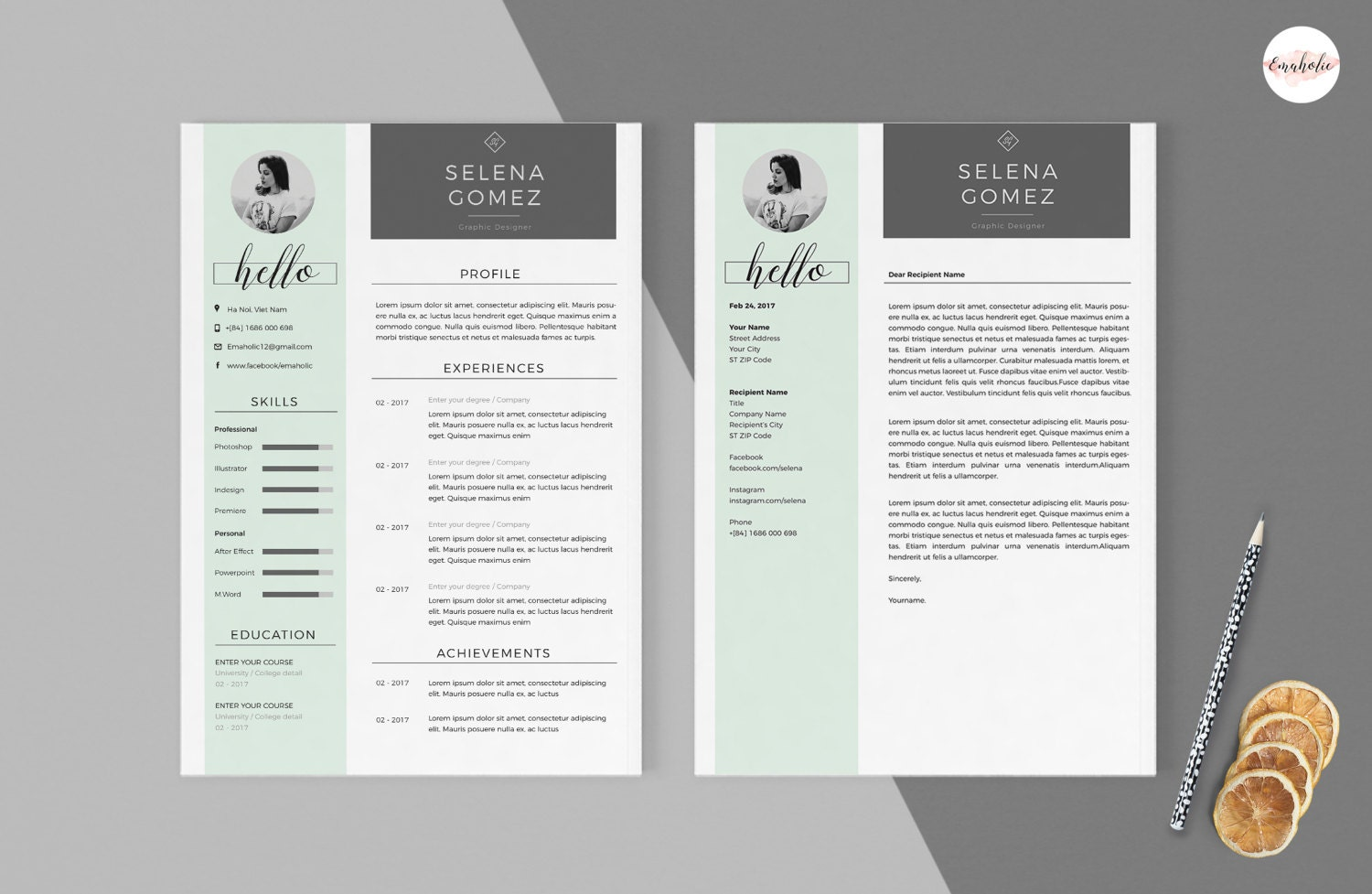 Professional cv and cover letter template clean cv template professional cv and cover letter template clean cv template creative cv modern cv madrichimfo Image collections