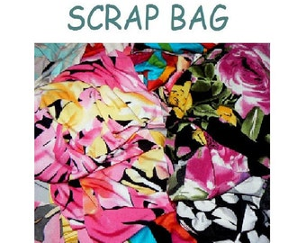 Apparel Fabric Scraps Large Pieces 5oz to 2 Pounds Polyester and Spandex
