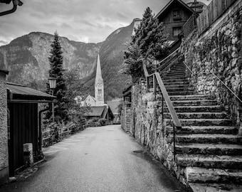Hallstatt Photography, Austria Photography, Wall Art, Landscape, Fine Art Photography, Photographic Print, Hallstatt Photo, Austria Print
