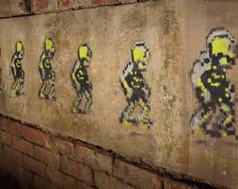 Skeleton Army Graffiti