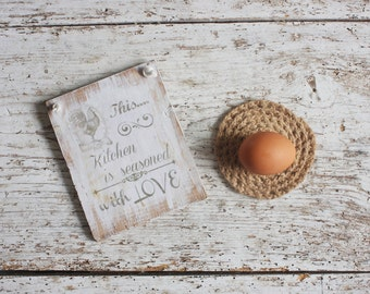 Primitive French Country Kitchen Sign - Farmhouse Kitchen Sign - Rustic Signs -  Country Kitchen Wall Decor - Vintage Kitchen Decor