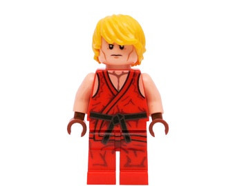 LEGO Minifigures Custom Street Fighter - Ken Made with Original LEGO Parts