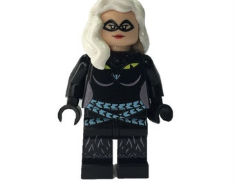 LEGO Custom minifigures -  cat Lady Made with Original LEGO Parts