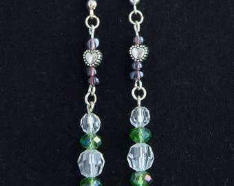 Heartfelt drop earrings