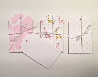 Pink Giraffe Gift Tag Set of 15 CP-2013