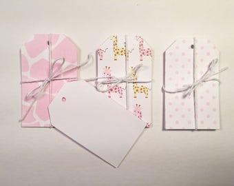 Pink Giraffe Gift Tag Set of 15 CP-2013