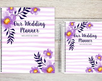 Custom Wedding Planner, Wedding Book, Bridal Organizer, Great Engagement Gift, Wedding Planning, Custom Engagement Gift, Watercolor Purple