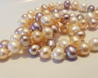 Vintage Real Pearls Sterling Silver Necklace