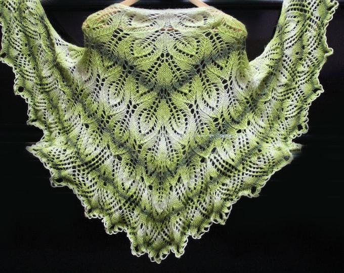 Knitted shawl, delicate shawl , hand knit shawl, crochet shawl, knit shawl, knitted shawl, knit scarf, green shawl, knitted scarf,