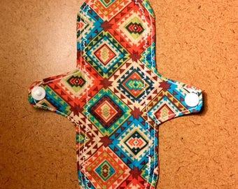 Reusable Cloth Pad, Aztec