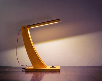 LED Wood Desk Lamp