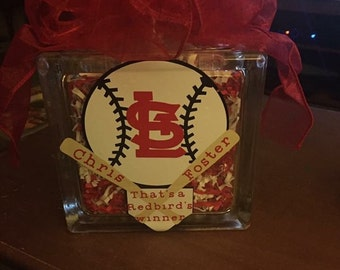 St Louis Cardinals Glass Block, St. Louis Cardinals,  Glass Block,