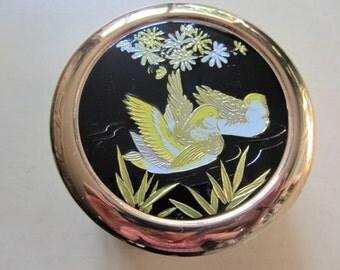 Medium Vintage Ceramic Trinket Pot With Bird Detail By *CHOKIN*