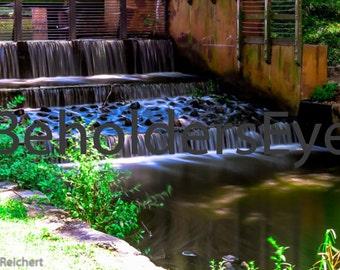 Greenfield Lake waterfall.