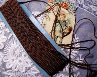 a fine soutache old, Brown, doll, 3 meters