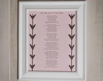 Mom To Be Gift, Pregnancy Poem, Baby Shower Gift, Nursery Wall Art, Pregnancy Gift, Push Present