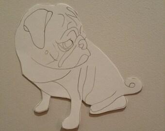 Personalised Pug Pattern 6