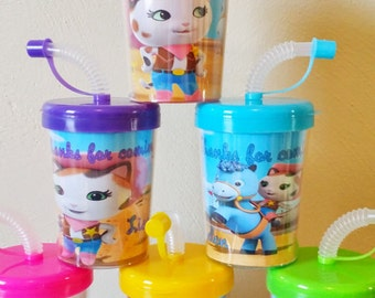 Sheriff Callie Wild West Personalized Party Favor Cups, Birthday Party Treat Cups Set of 6, Callie Wild West Party Favors