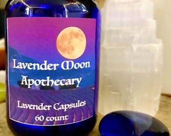 Lavender Capsules (60 count) - Lavender Moon Apothecary