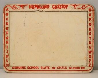 Vintage School Slate - Hopalong Cassidy