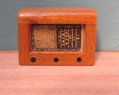 Vintage 1950s Dolls House Wooden Radiogram  Dolls House Accessory