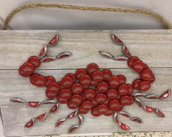 Bottle cap Budweiser crab