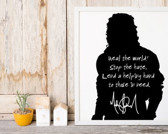 "Michael Jackson ""Heal The World"" Art Print"