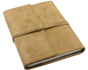 Genuine Suede Refillable Wrap Journal