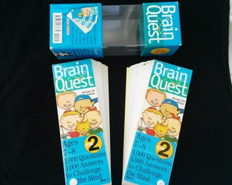 Brain Quest 2nd Grade Card Deck Question and Answer Game Multi age 7-8