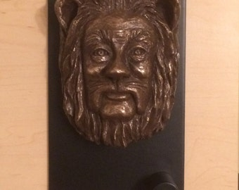 Cowardly Lion Fine Art Portrait for Wall or Door Knocker