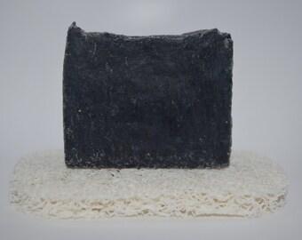 Activated Charcoal & Clay Soap - Vegan soap / Face Soap / Detox Soap / Acne Soap /Handmade soap / Lavender, Tea Tree, Rosemary Soap