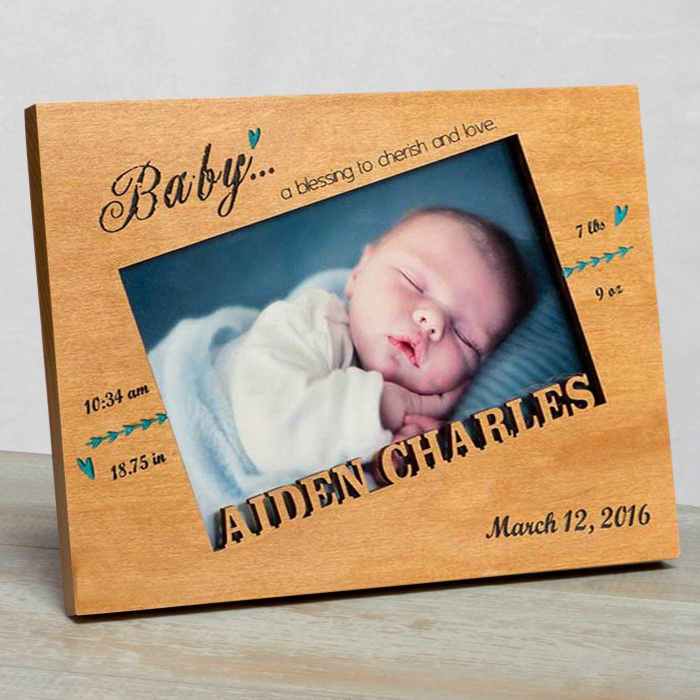 Personalized baby picture frame baby boy picture frame new baby sold by studio1workshop jeuxipadfo Images