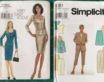 Sizes 6-8-10-12 Lot 0f 2 Sewing Patterns