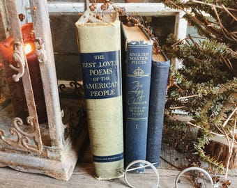 Old Books - The Age of Chaucer, Nathaniel Hawthorne & Best Loved Poems