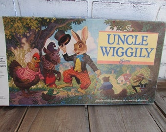 Uncle Wiggily Game Vintage Milton Bradley Board Game
