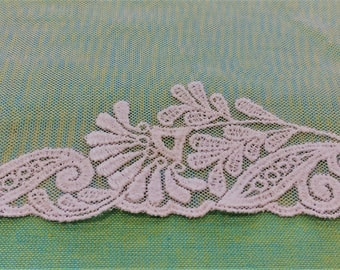 White nylon border lace - 3.5 m