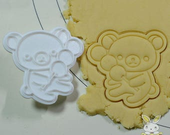 Rirakuma with Candy bar Cookie Cutter and Stamp